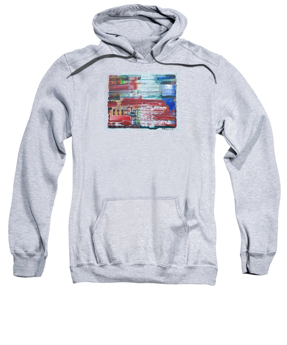 Impressionism Sweatshirt featuring the painting Glass Blocks by J R Seymour