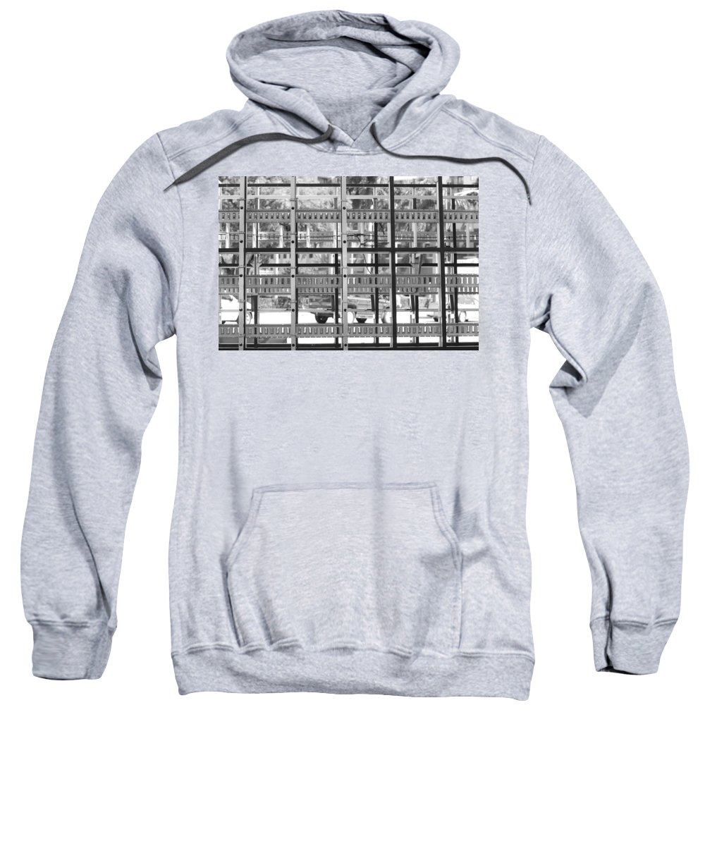 Black And White Sweatshirt featuring the photograph Glass Holders by Rob Hans