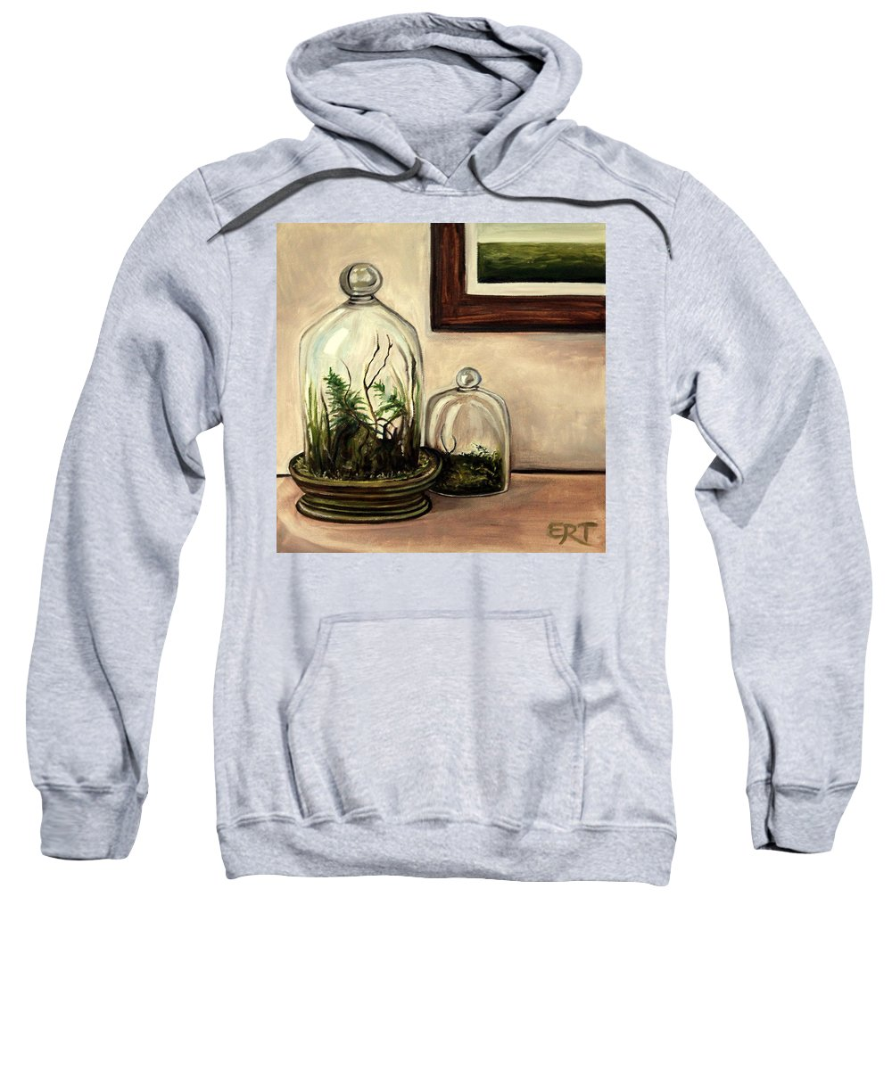 Glass Sweatshirt featuring the painting Glass Terrariums by Elizabeth Robinette Tyndall