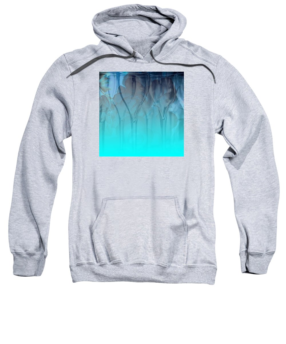 Glasses Sweatshirt featuring the digital art Glasses Floating by Allison Ashton