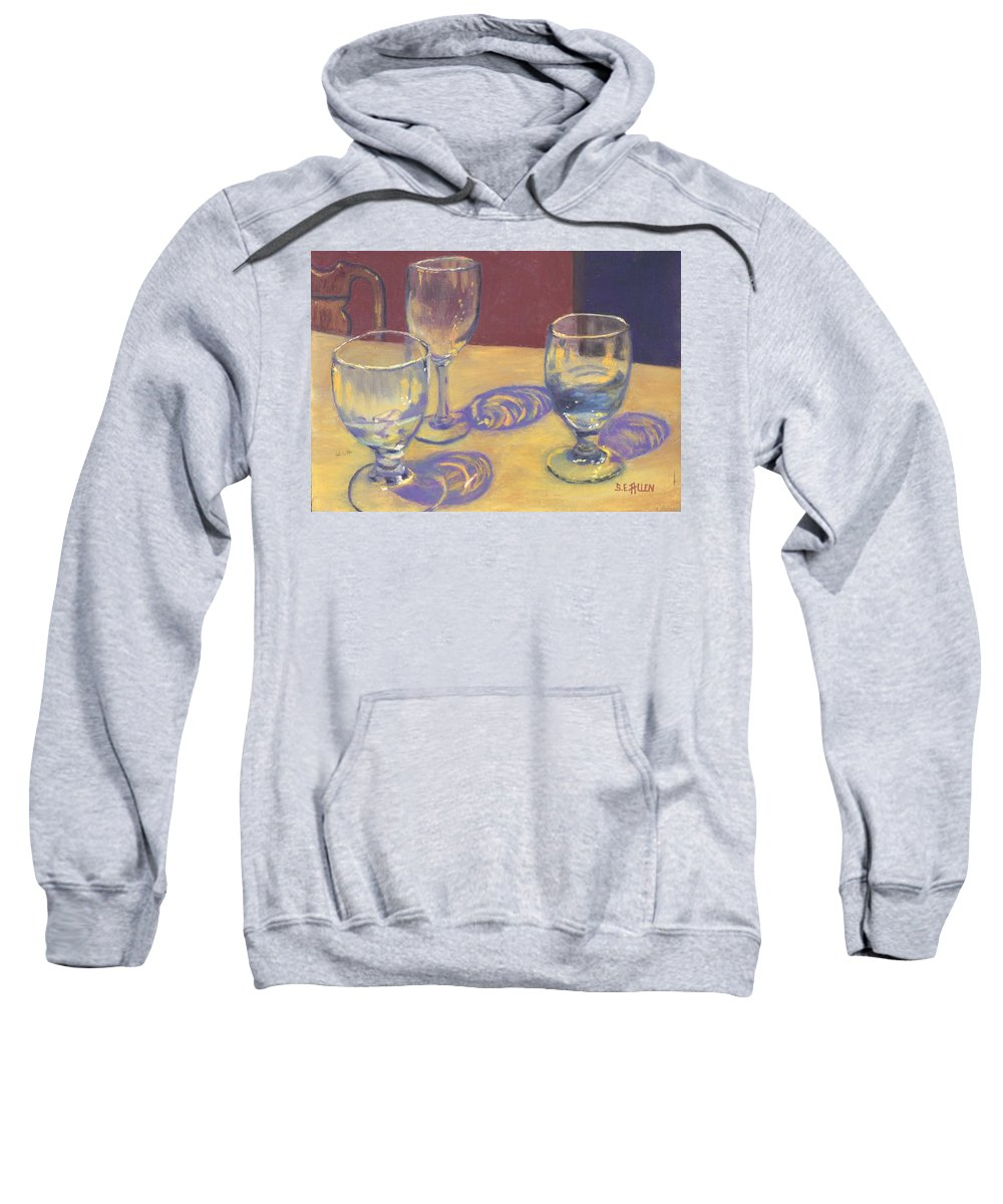 Glasses Sweatshirt featuring the painting Glasslights by Sharon E Allen