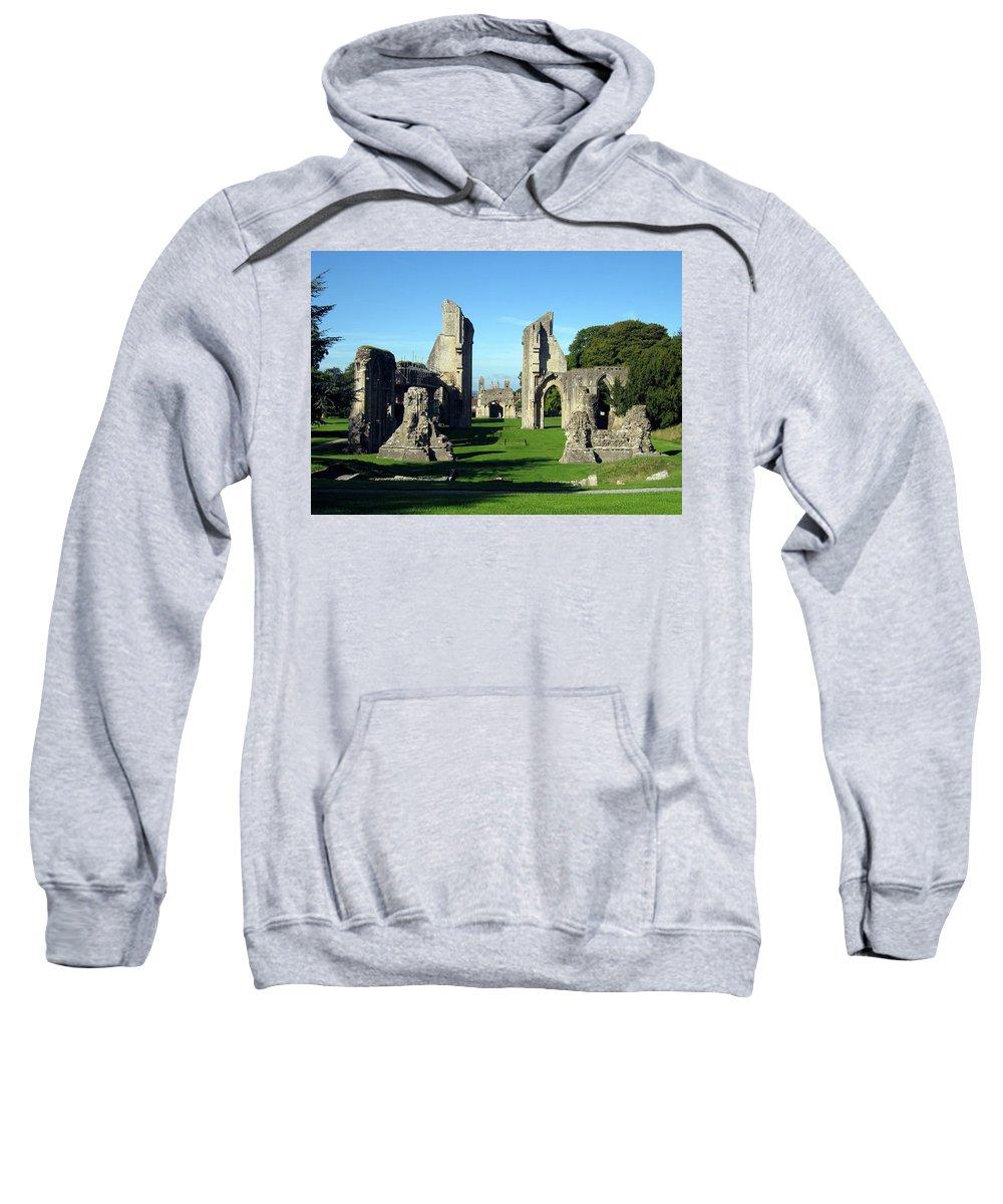 Glastonbury Sweatshirt featuring the photograph Glastonbury Abbey 1 by Kurt Van Wagner