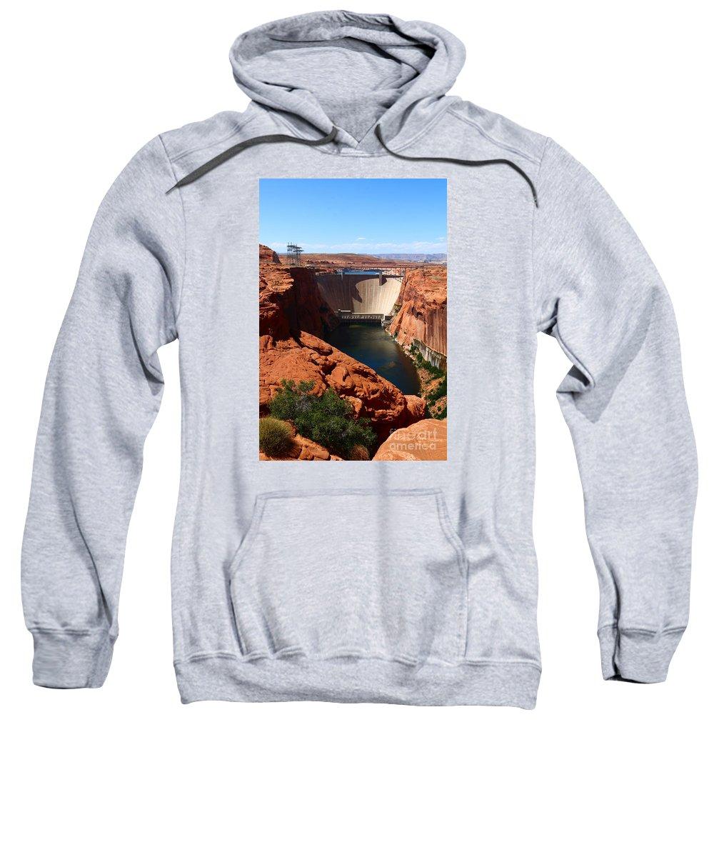 Dam Sweatshirt featuring the photograph Glen Canyon Dam - Arizona by Christiane Schulze Art And Photography