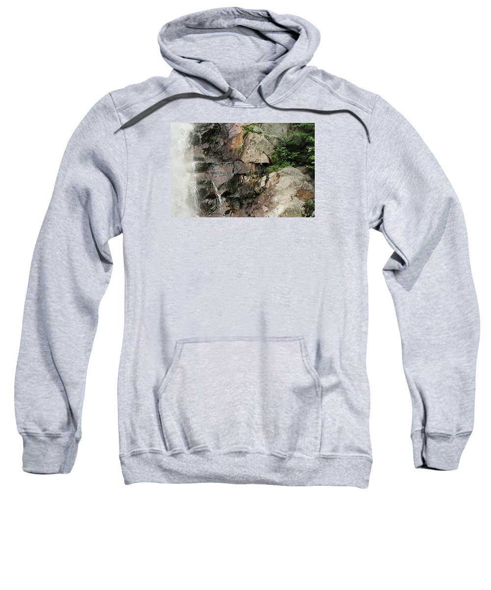 Waterfall Sweatshirt featuring the photograph Glen Falls Abstract by Dave Martsolf