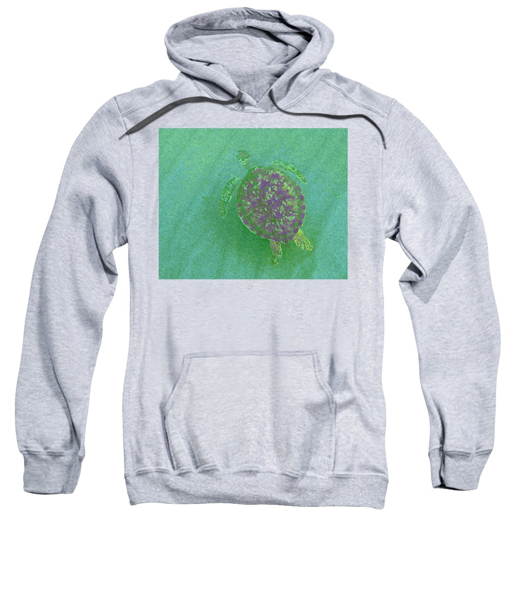 Nature Sweatshirt featuring the photograph Gliding Green - Filter Fun by Kimberly Mohlenhoff