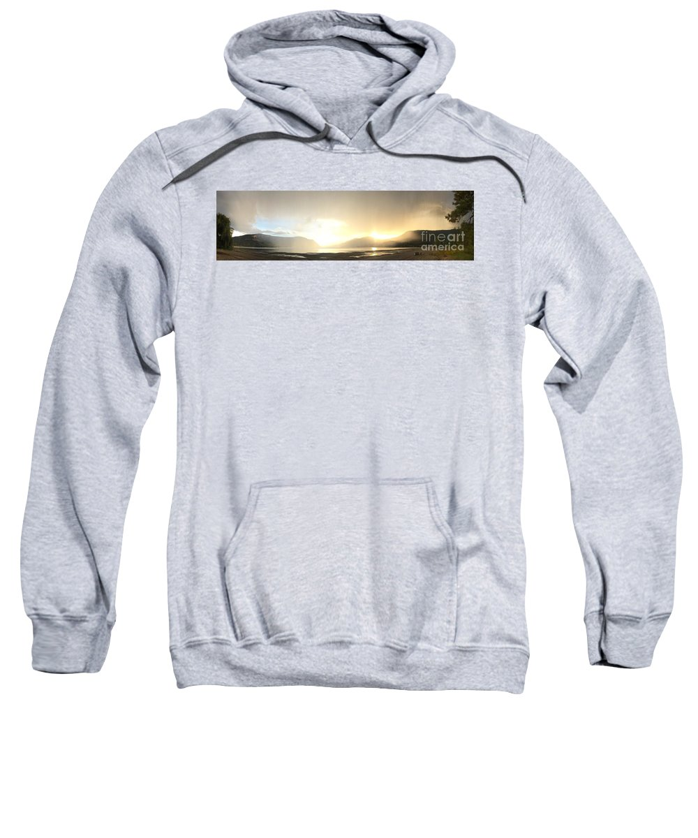 Sunset Sweatshirt featuring the photograph Glittering Shower by Victor K