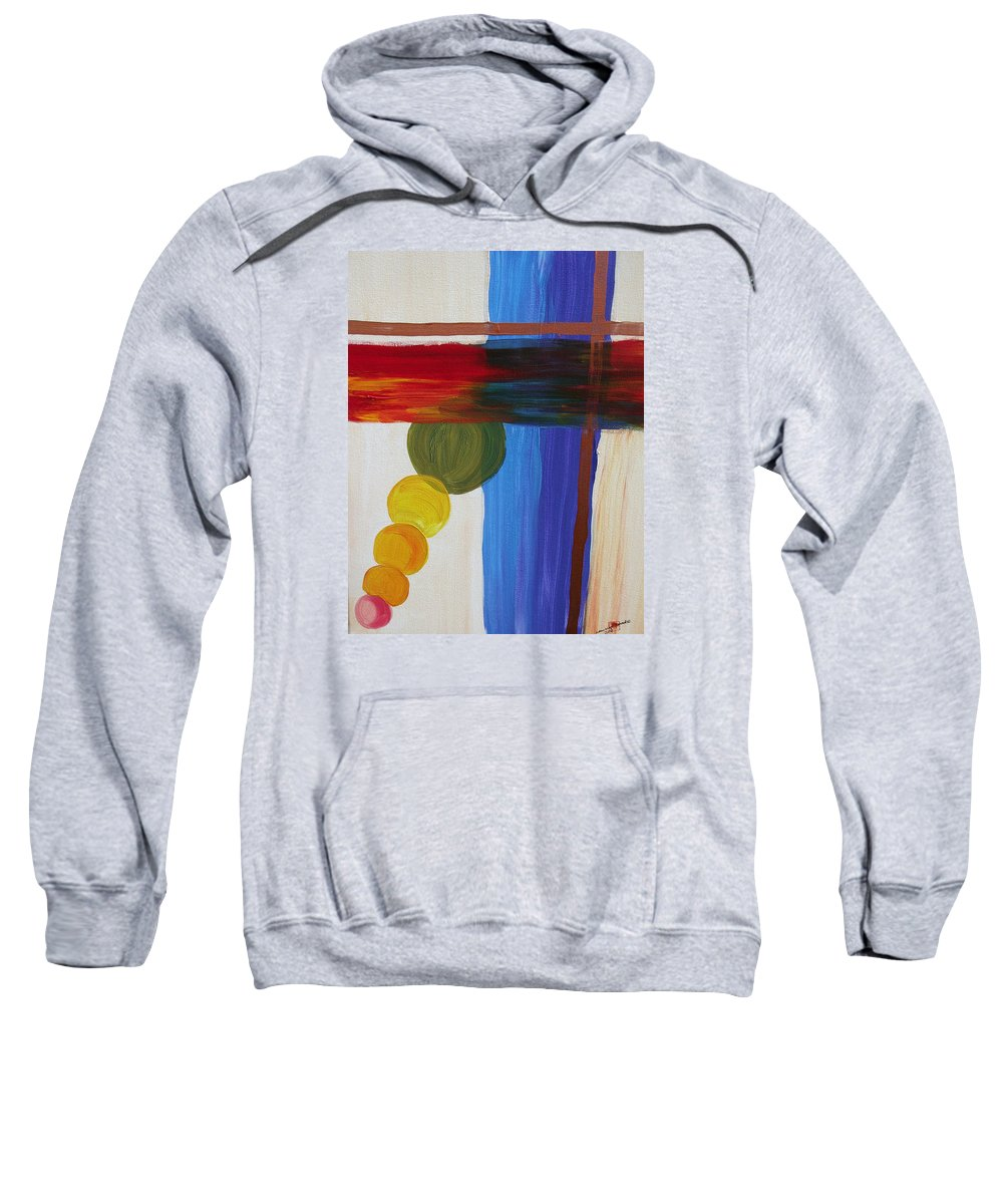 Global Warming Sweatshirt featuring the painting Global Warming by Arlene Wright-Correll
