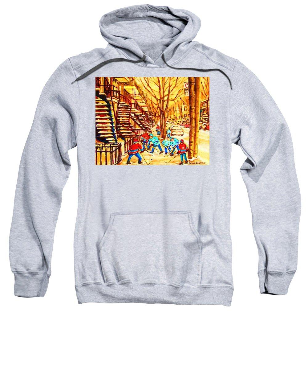 Golden Days Sweatshirt featuring the painting Glory Days by Carole Spandau