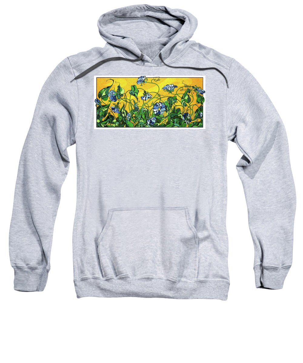Spring Sweatshirt featuring the drawing Glory In The Flower by Michele Sleight