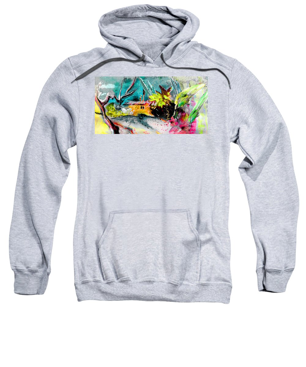 Pastel Painting Sweatshirt featuring the painting Glory Of Nature by Miki De Goodaboom
