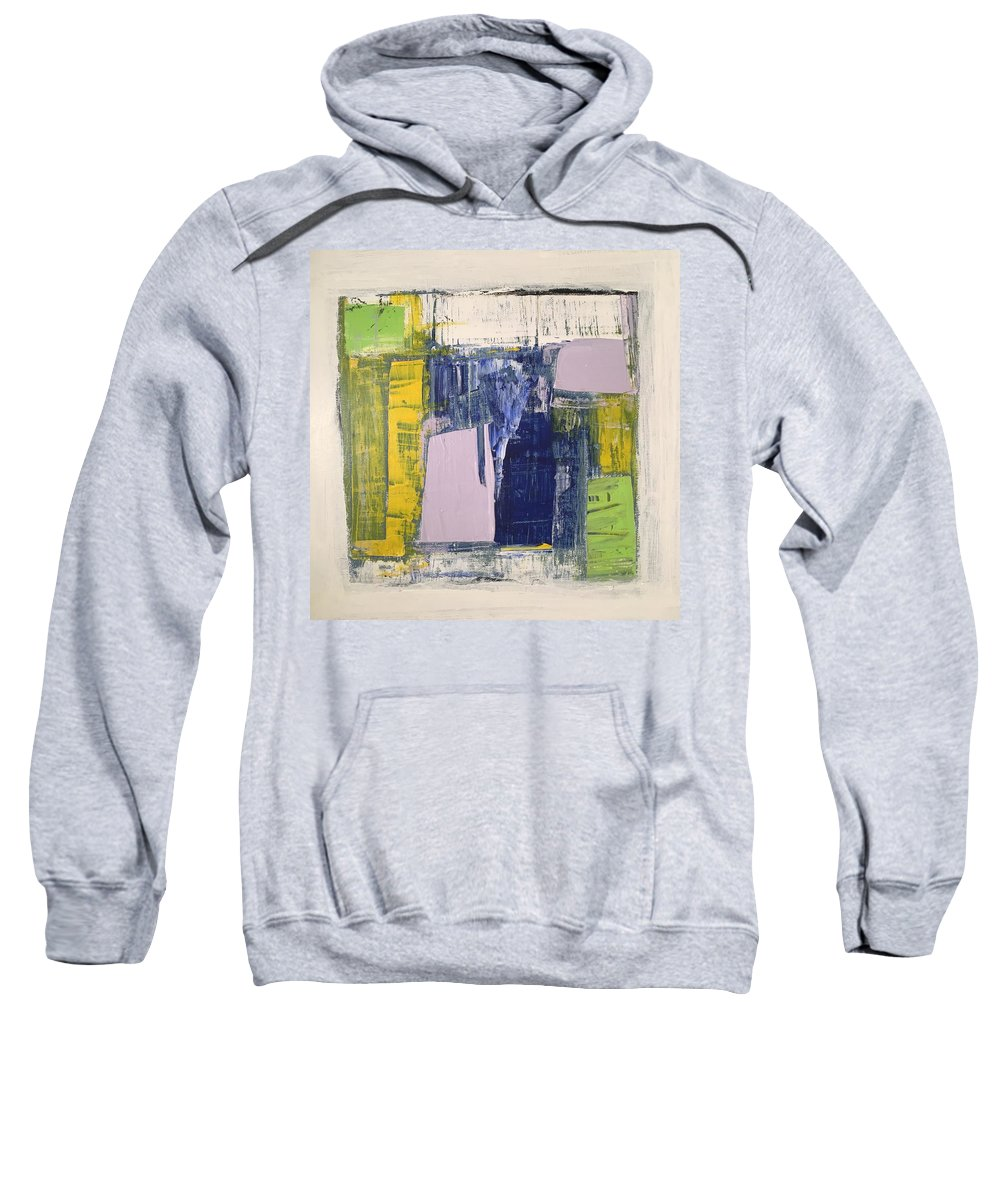 Abstract Sweatshirt featuring the painting Glossaries by Dave Love