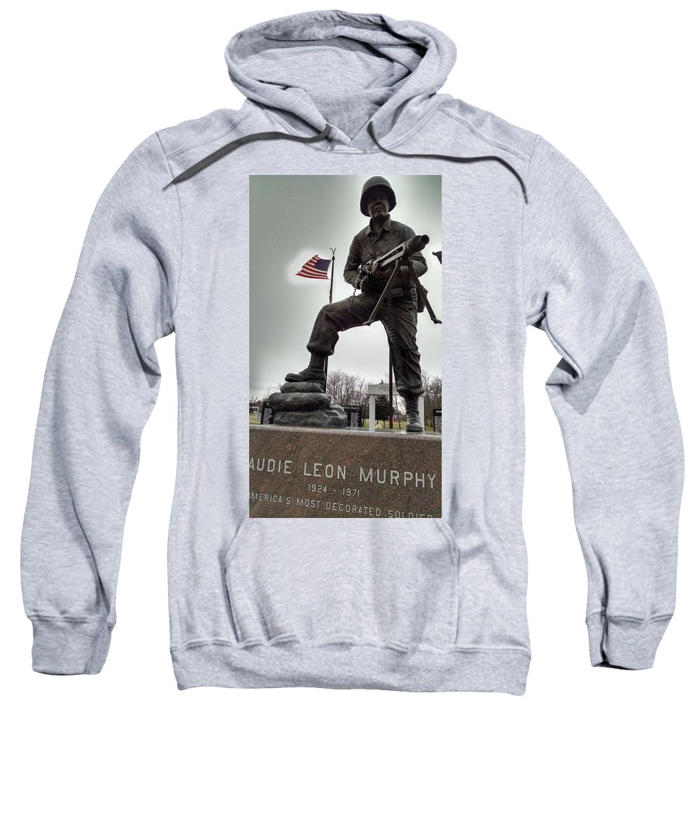 Audie Murphy Sweatshirt featuring the photograph Glow Of Patriotism by J L Hodges