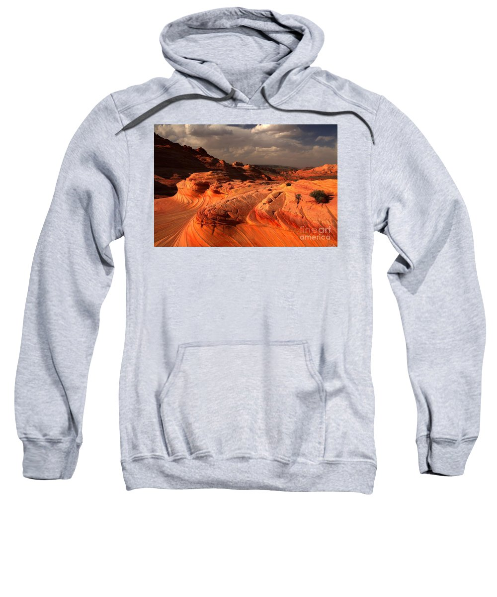 The Wave Sweatshirt featuring the photograph Glowing Flying Dragon by Adam Jewell