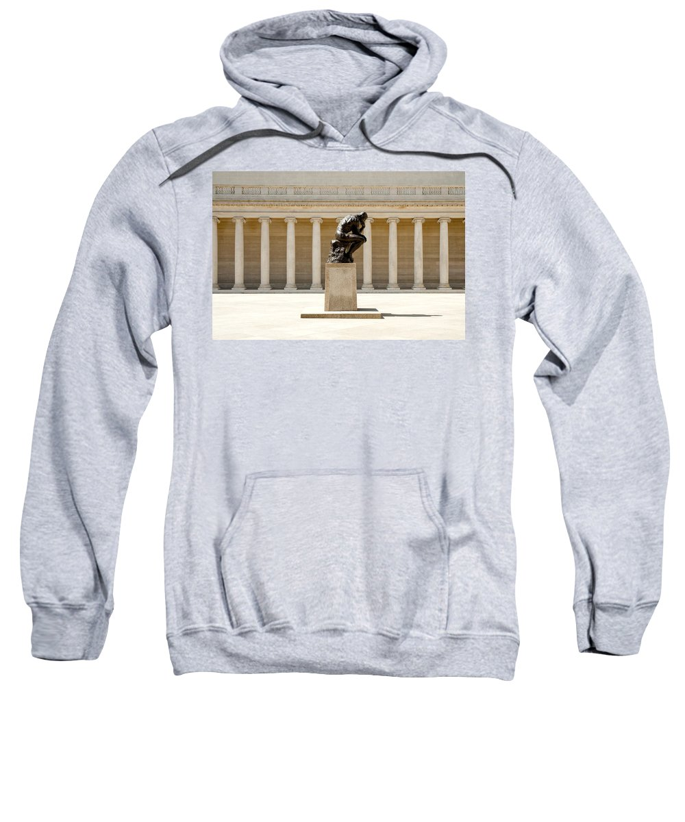 Thinker Sweatshirt featuring the photograph Go Away...i'm Thinkin by Greg Fortier