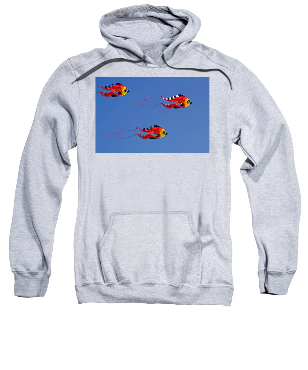 Clay Sweatshirt featuring the photograph Go Fly A Kite by Clayton Bruster