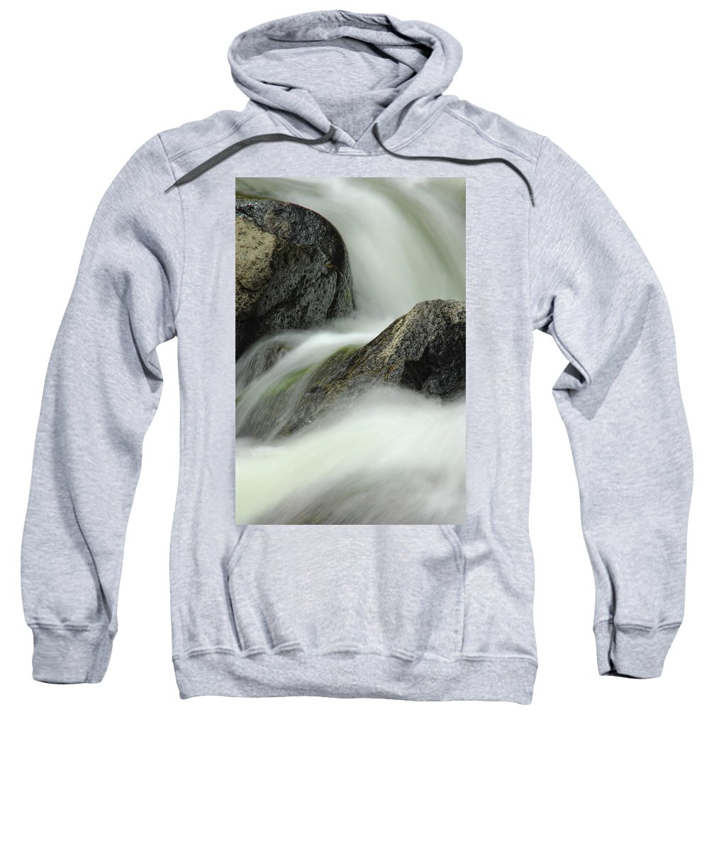 Creek Sweatshirt featuring the photograph Go With The Flow by Donna Blackhall