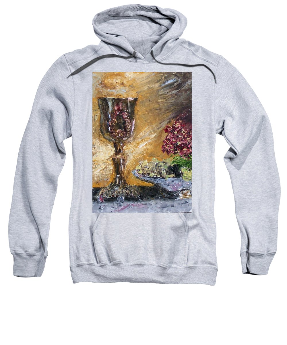 Sweatshirt featuring the painting Goblet by Stephen King
