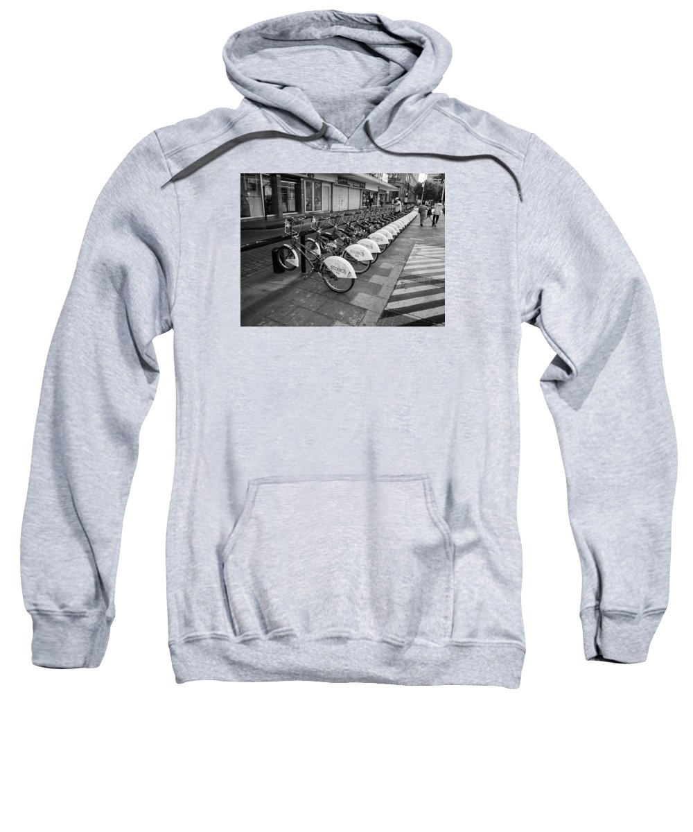Black And White Photography Sweatshirt featuring the photograph Going To School by Luis Santos Ochoa Duron