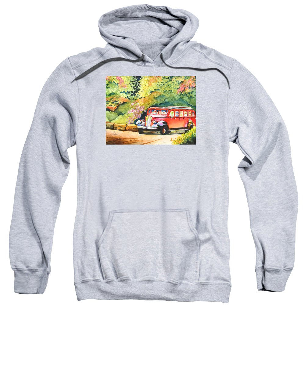 Landscape Sweatshirt featuring the painting Going to the Sun by Karen Stark