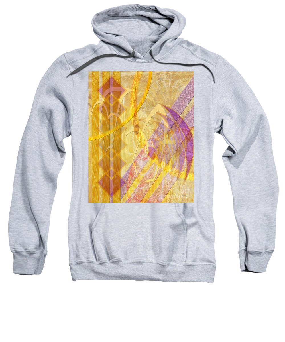 Gold Fusion Sweatshirt featuring the digital art Gold Fusion by John Beck