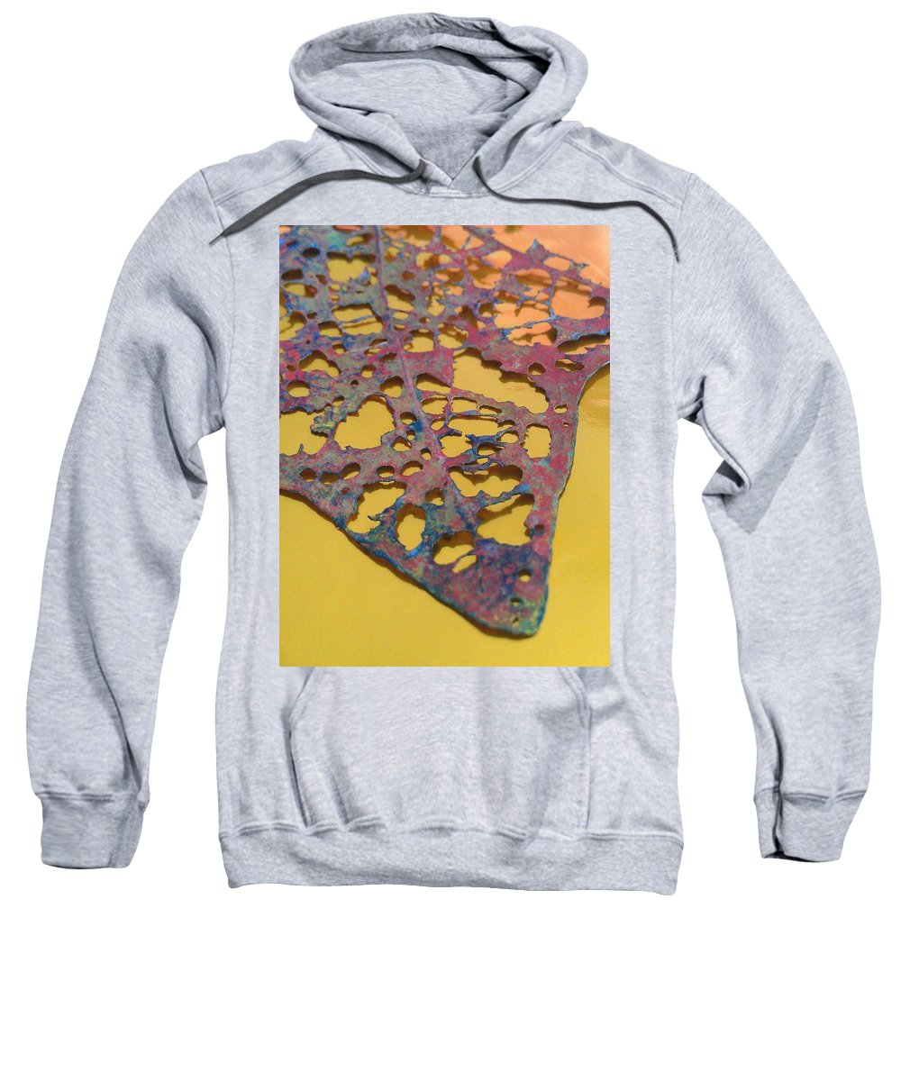 Gold Sweatshirt featuring the photograph Gold Leaf 1 by Jennifer Bright