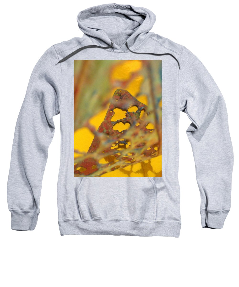 Gold Sweatshirt featuring the photograph Gold Leaf 3 by Jennifer Bright