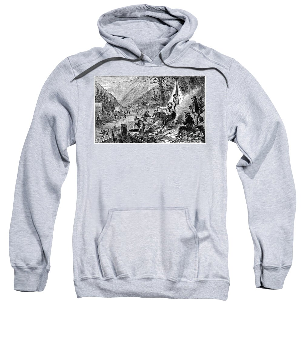 1853 Sweatshirt featuring the photograph Gold Mining, 1853 by Granger
