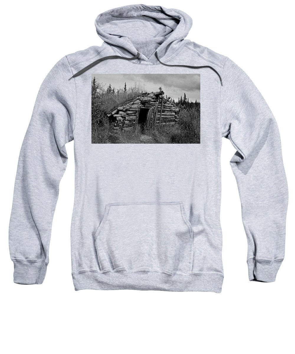 Gold Sweatshirt featuring the photograph Gold Rush Cabin - Yukon by Juergen Weiss