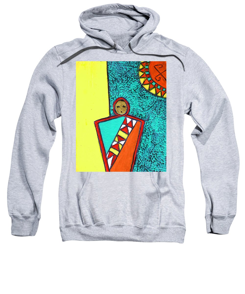 Southwest Sweatshirt featuring the painting Golden Child Of The South West by Wayne Potrafka