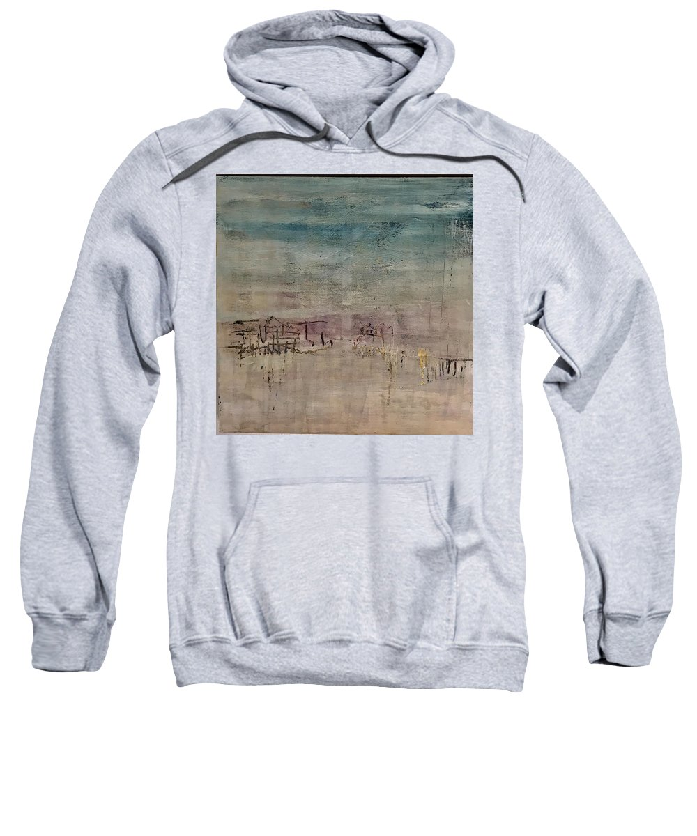 Abstract Sweatshirt featuring the painting Golden Dusk by Janice Harris