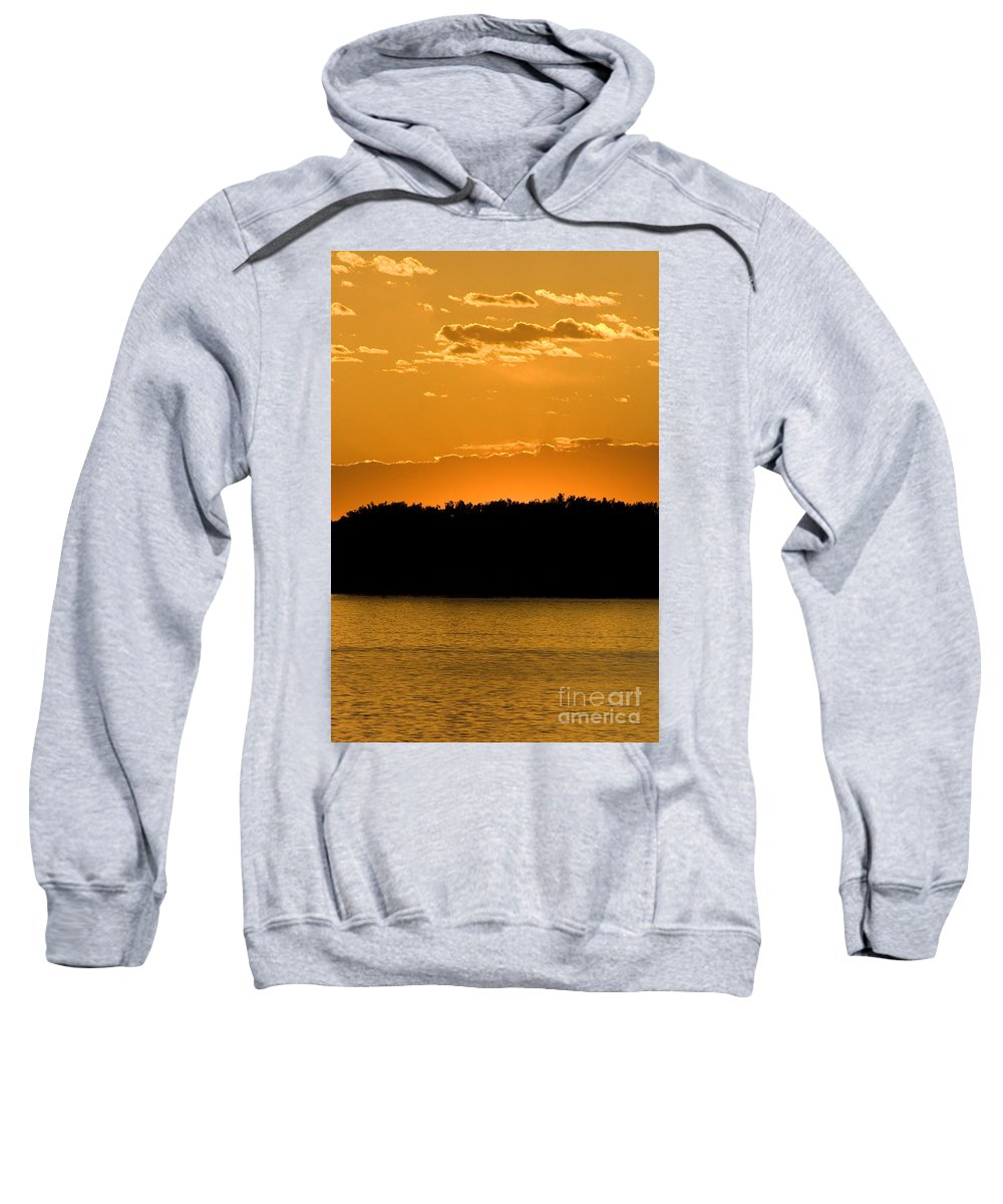 Sunset Sweatshirt featuring the photograph Golden Glow Sunset by Martha Johnson