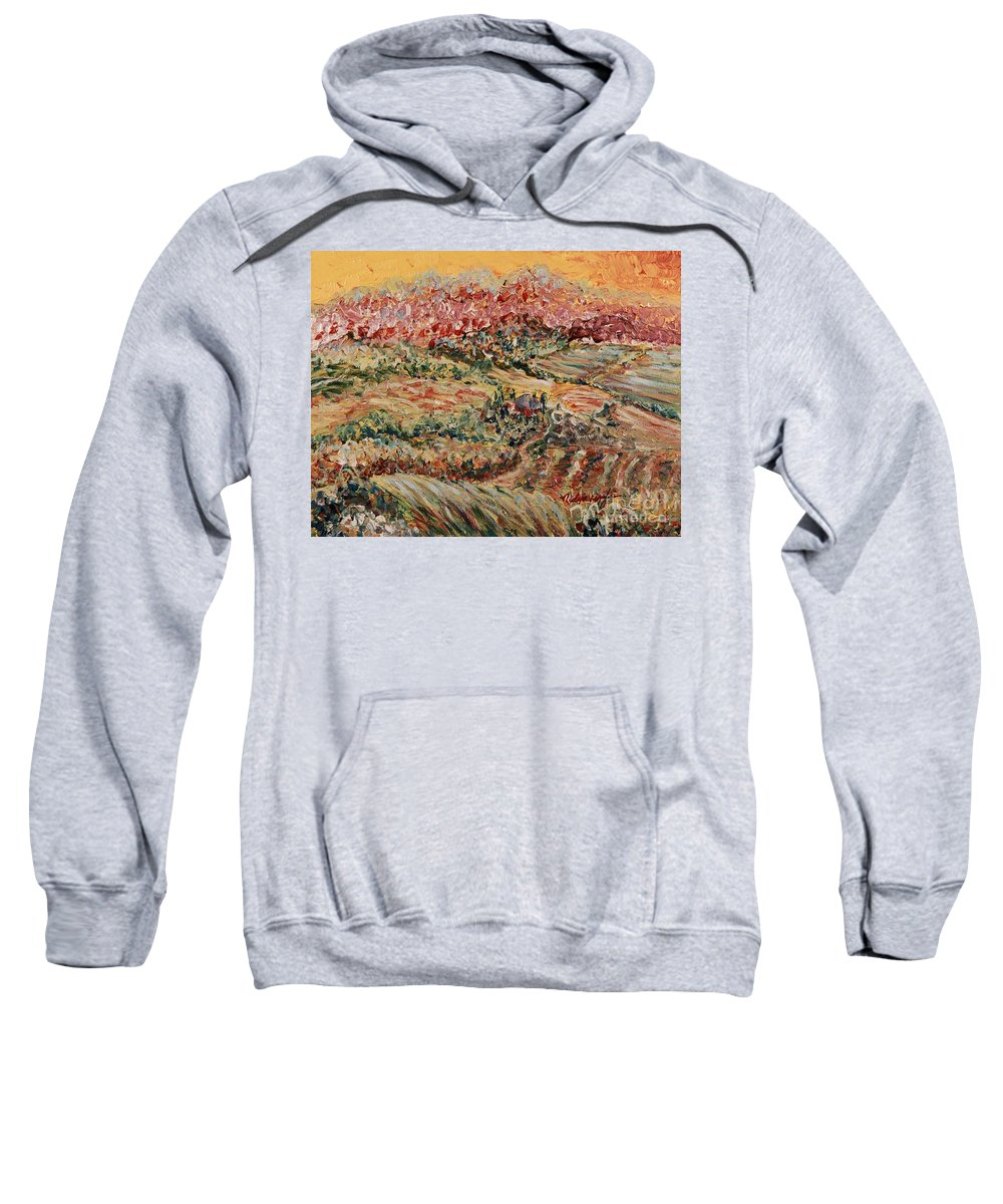 Provence Sweatshirt featuring the painting Golden Provence by Nadine Rippelmeyer