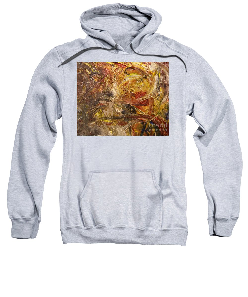 Abstract Expressionism Sweatshirt featuring the painting Golden Reward by Helene Gross