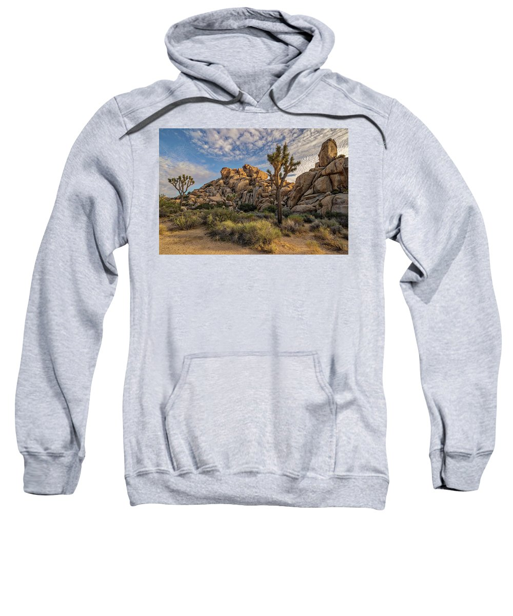 California Sweatshirt featuring the photograph Golden Rocks by Peter Tellone