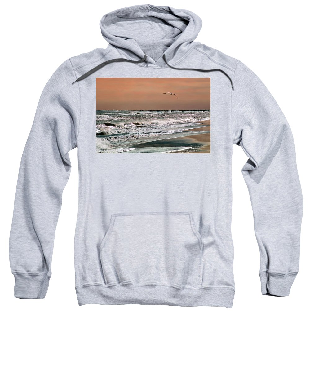 Seascape Sweatshirt featuring the photograph Golden Shore by Steve Karol