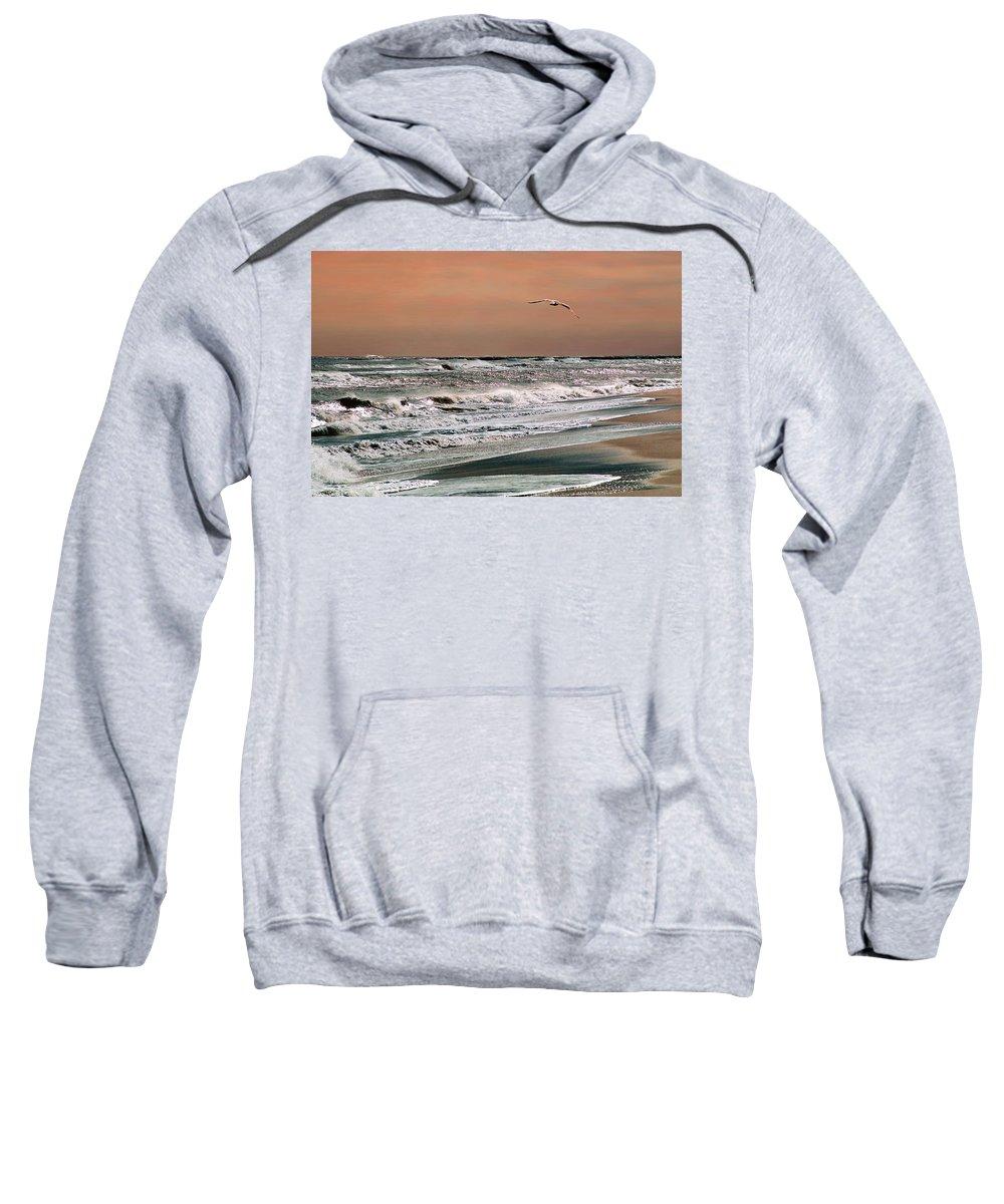 Seascape Sweatshirt featuring the photograph Golden Shore by Steve Karol