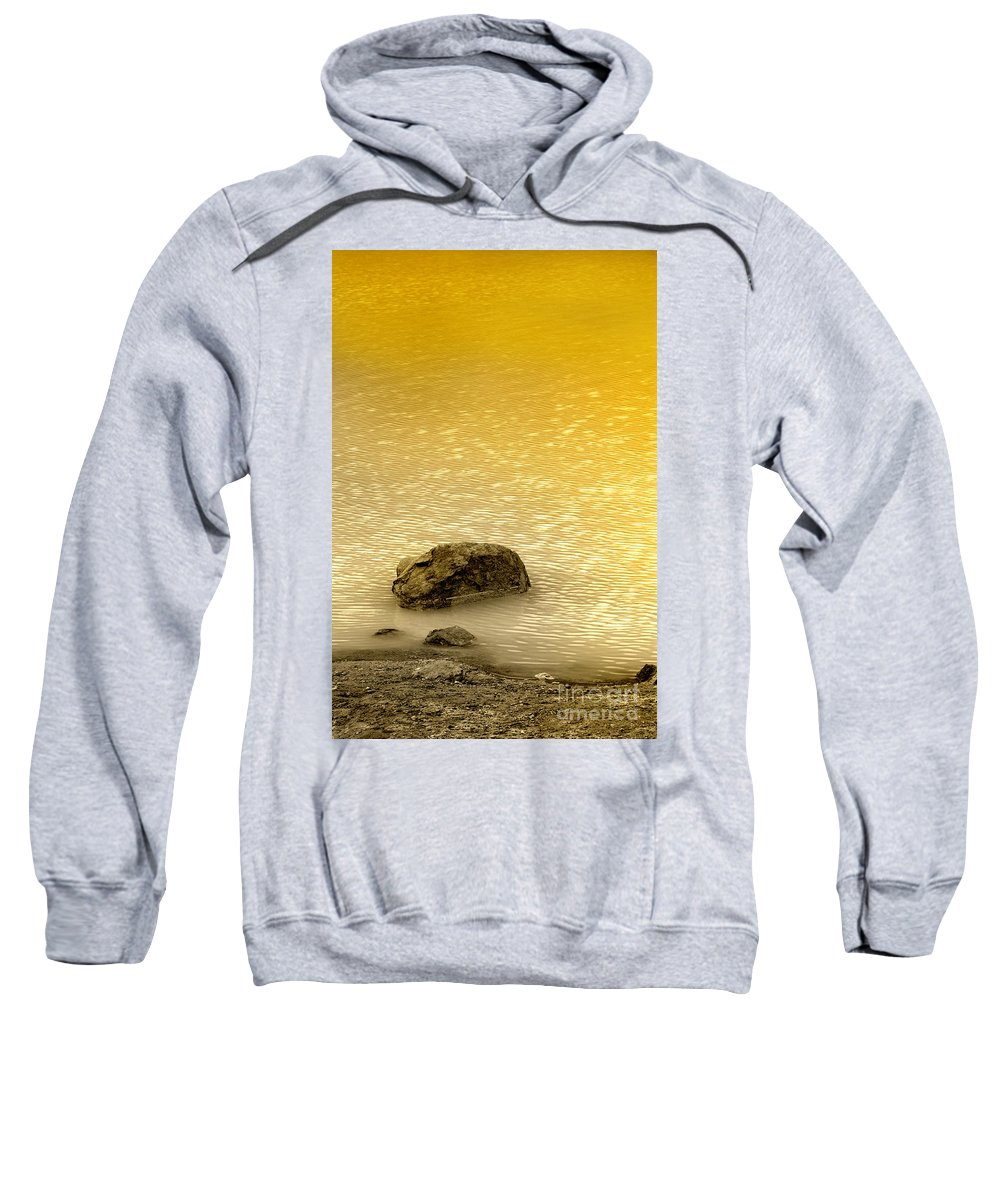 Water Sweatshirt featuring the photograph Golden Silence by Charuhas Images