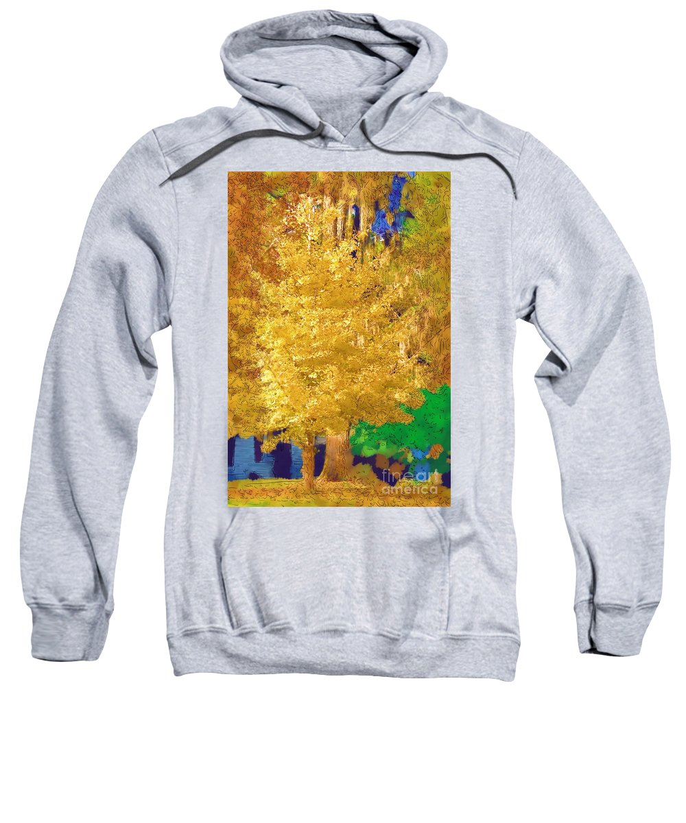 Tree Sweatshirt featuring the photograph Golden Tree by Donna Bentley