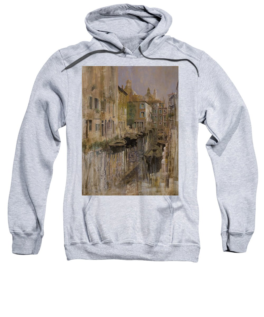 Venice Sweatshirt featuring the painting Golden Venice by Guido Borelli