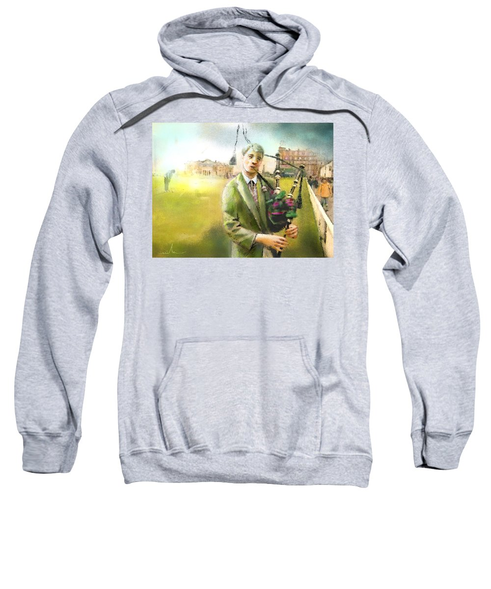 Golf Sweatshirt featuring the painting Golf In Scotland Saint Andrews 03 by Miki De Goodaboom