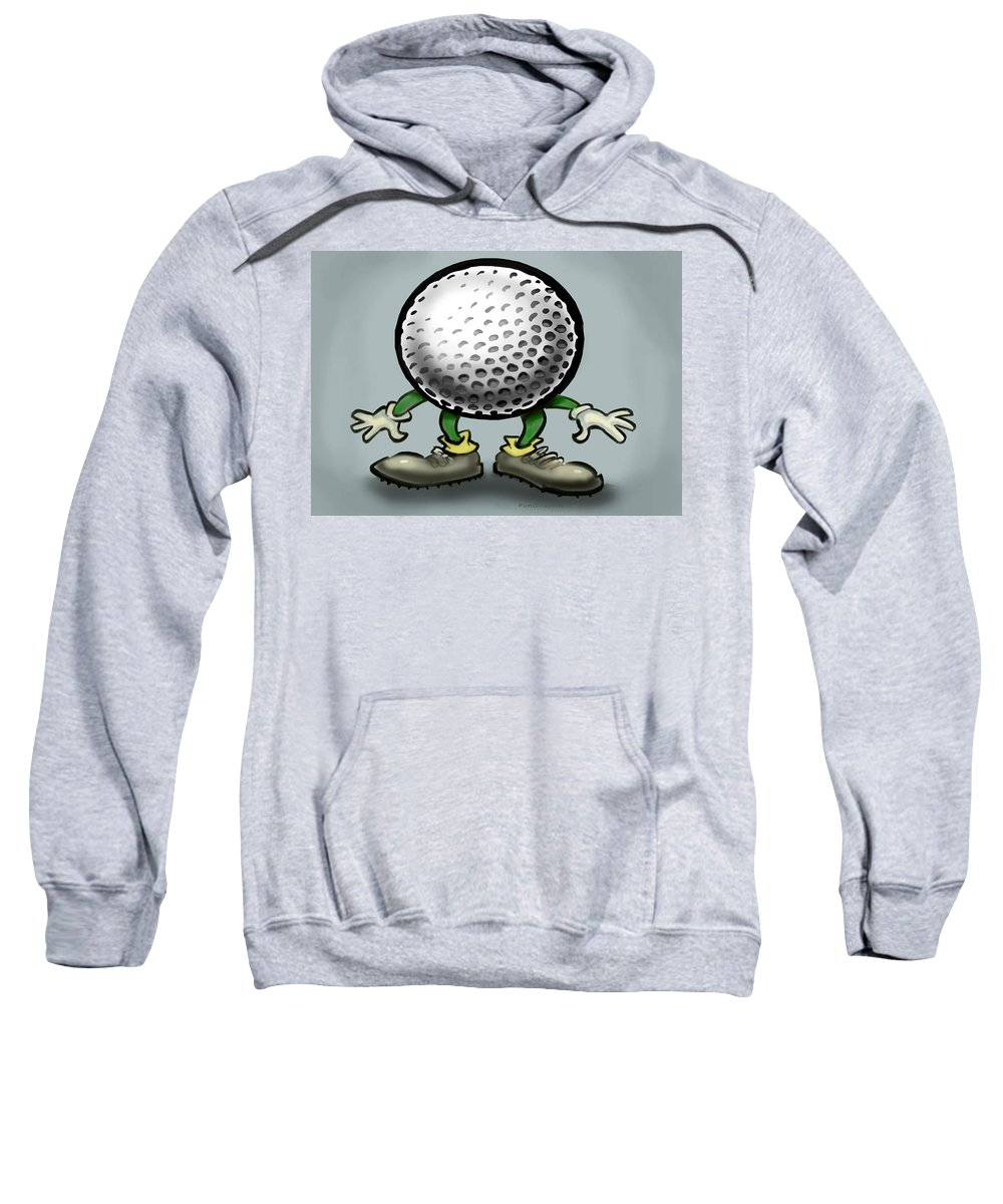 Golf Sweatshirt featuring the greeting card Golf by Kevin Middleton