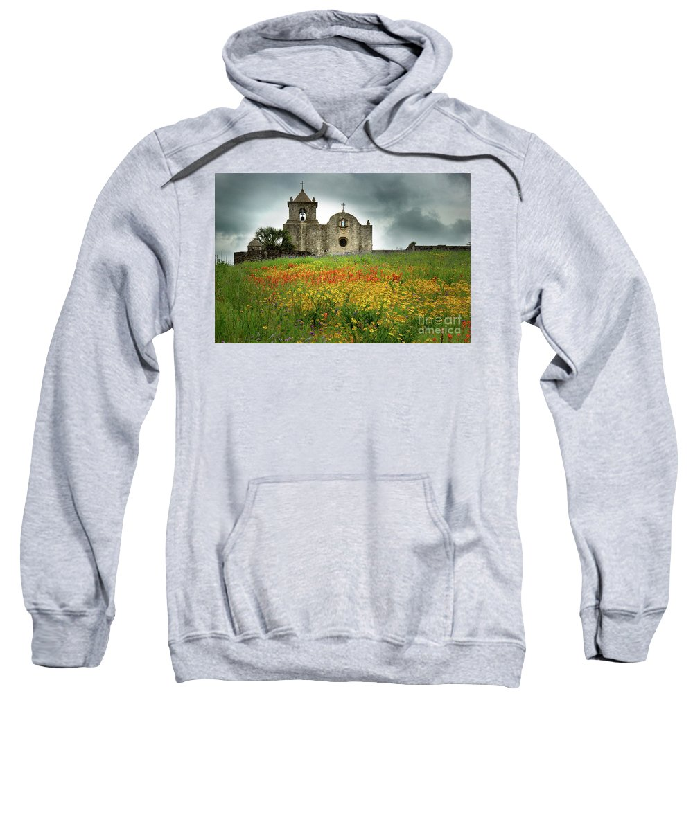Landscape Sweatshirt featuring the photograph Goliad In Spring by Jon Holiday
