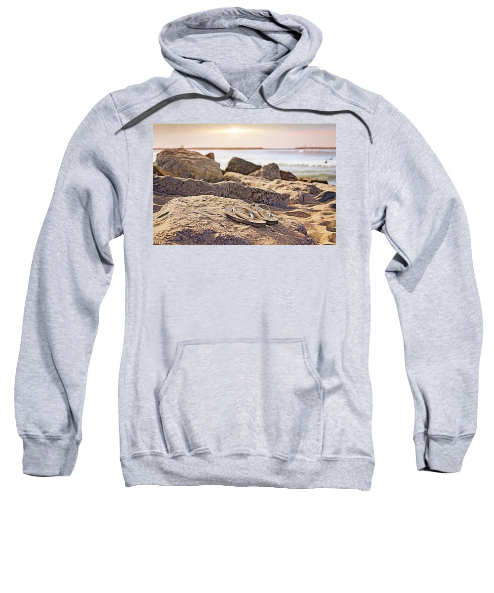 Surf Sweatshirt featuring the photograph Gone Surfin' by Alison Frank