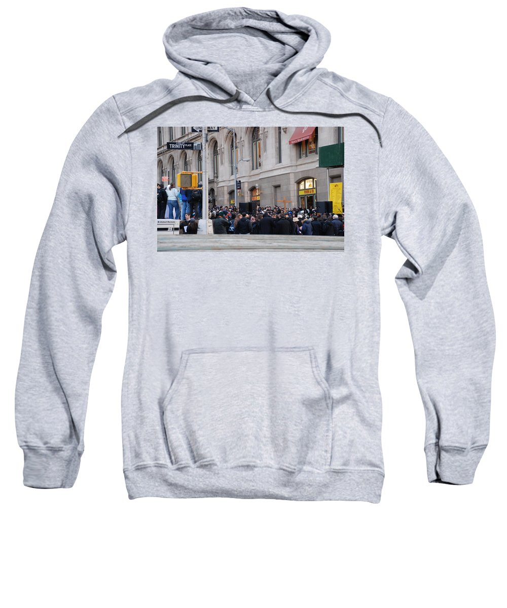 Church Sweatshirt featuring the photograph Good Friday On Trinity Place by Rob Hans
