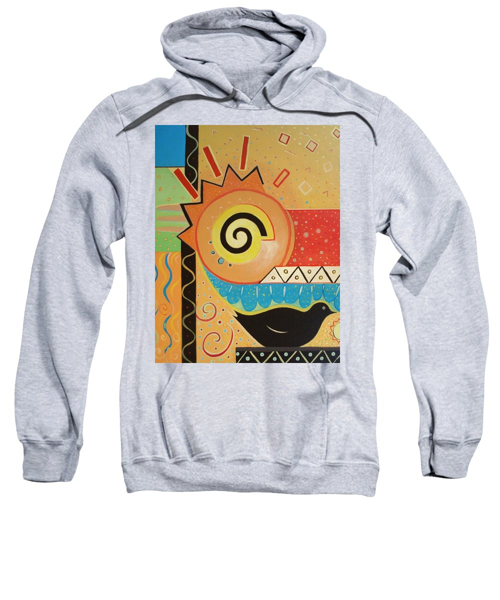Rise And Shine Sweatshirt featuring the painting Good Morning by Helena Tiainen