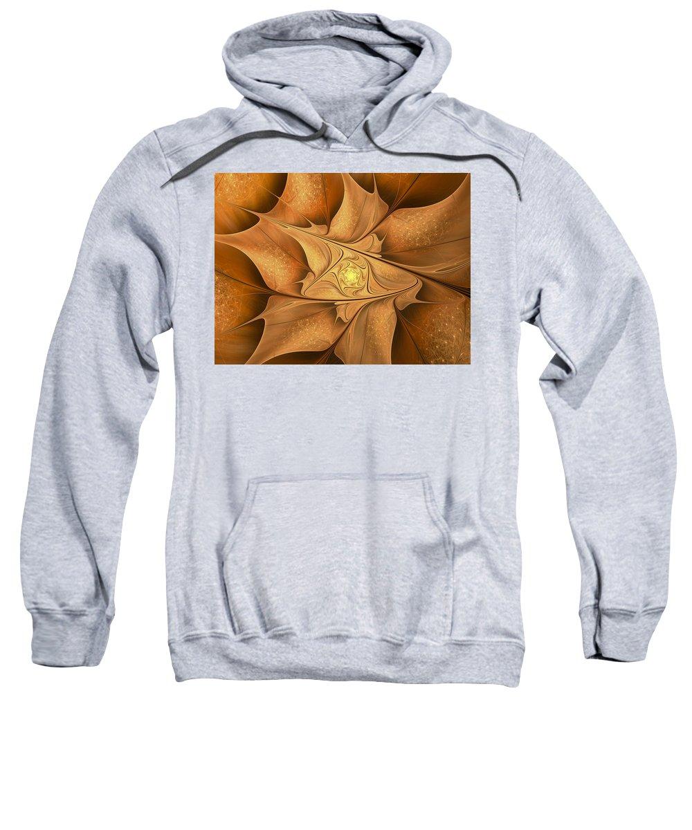 Fractal Sweatshirt featuring the digital art Goodbye Summer-welcome Autumn by Amorina Ashton