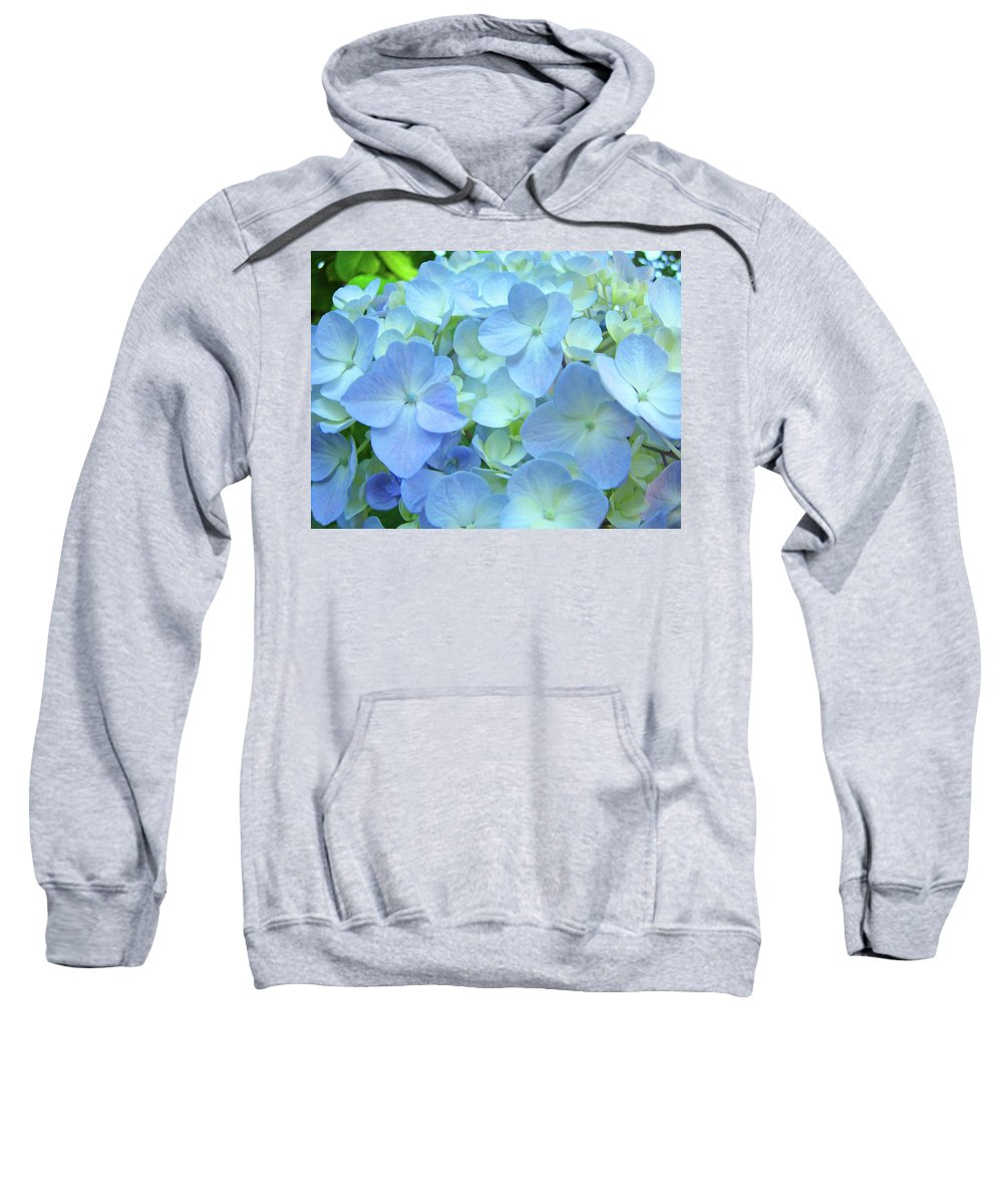 Gorgeous Sweatshirt featuring the photograph Gorgeous Blue Colorful Floral Art Hydrangea Flowers Baslee Troutman by Baslee Troutman