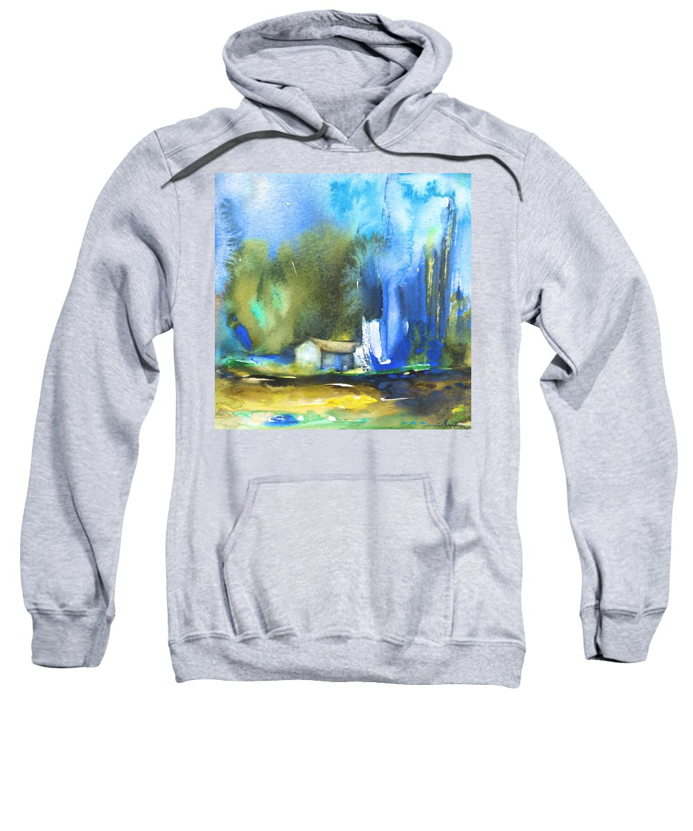 Watercolour Sweatshirt featuring the painting Got The Blues by Miki De Goodaboom