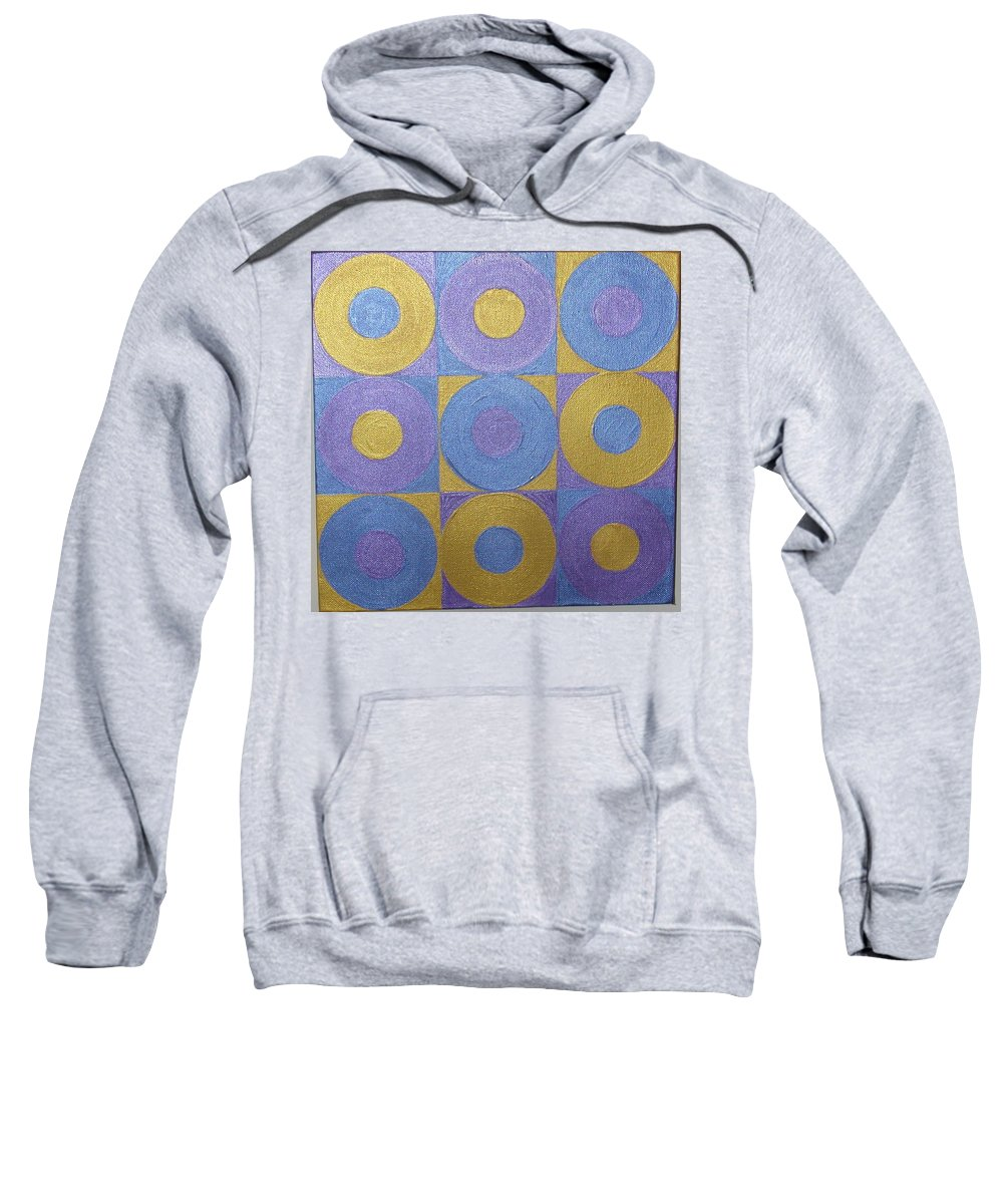 Bkue Sweatshirt featuring the painting Got The Brass Blues by Gay Dallek