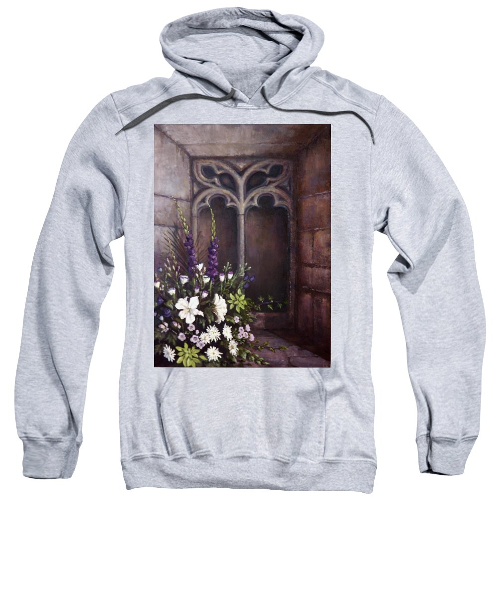 Floral Sweatshirt featuring the painting Gothic Wedding Bouquet by Sean Conlon
